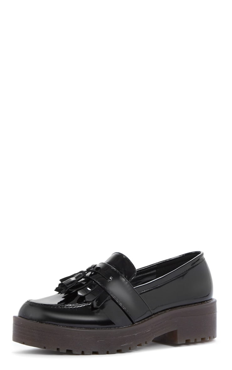 Charis Patent Black Chunky Loafer 2