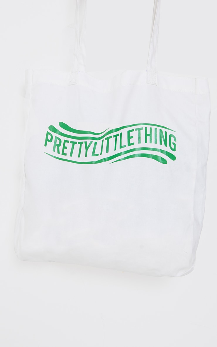PRETTYLITTLETHING Green Wave Tote Bag 3
