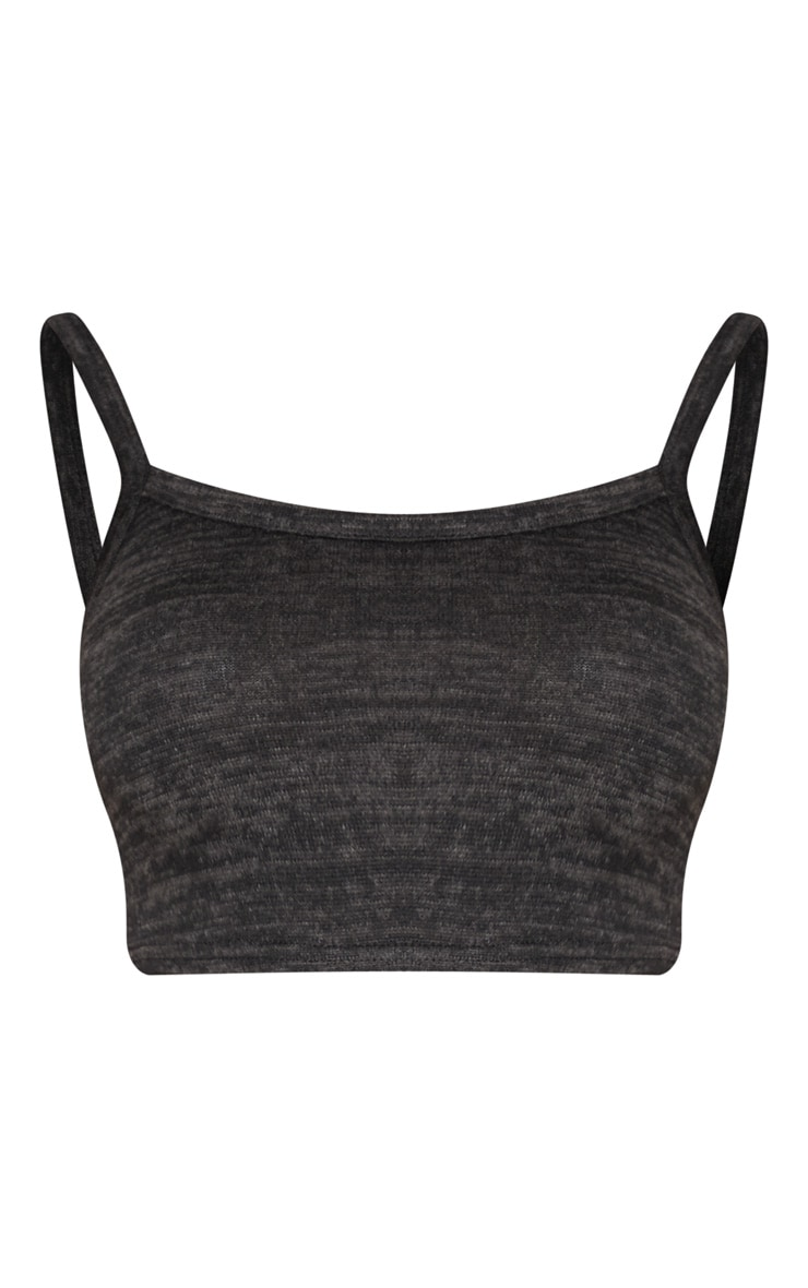 Black Lightweight Knit Vest Top  3