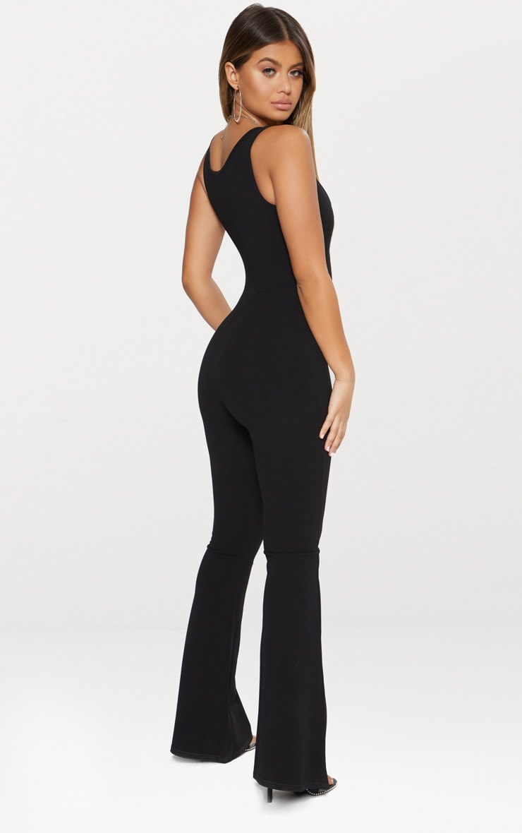 Black Bust Seam Detail Jumpsuit 2