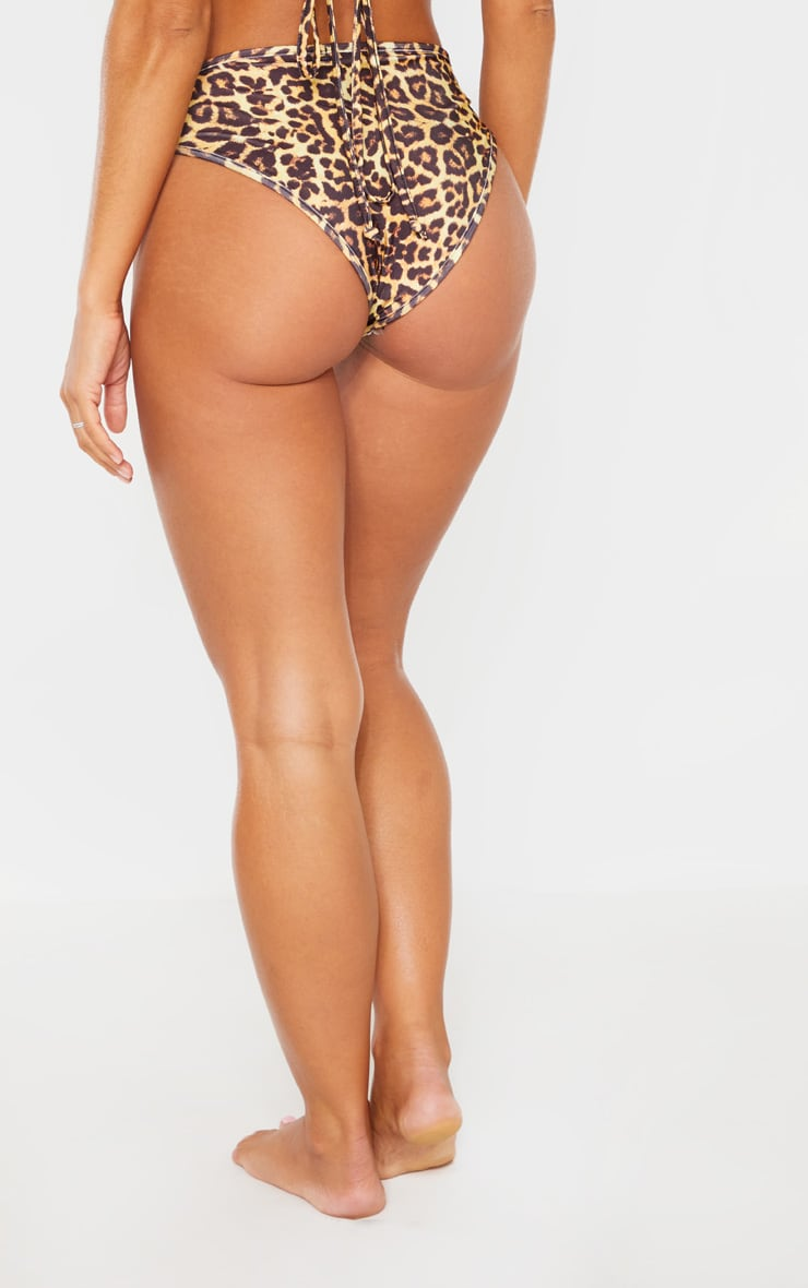 Leopard Mix & Match V Front Brazilian Bikini Bottom 4