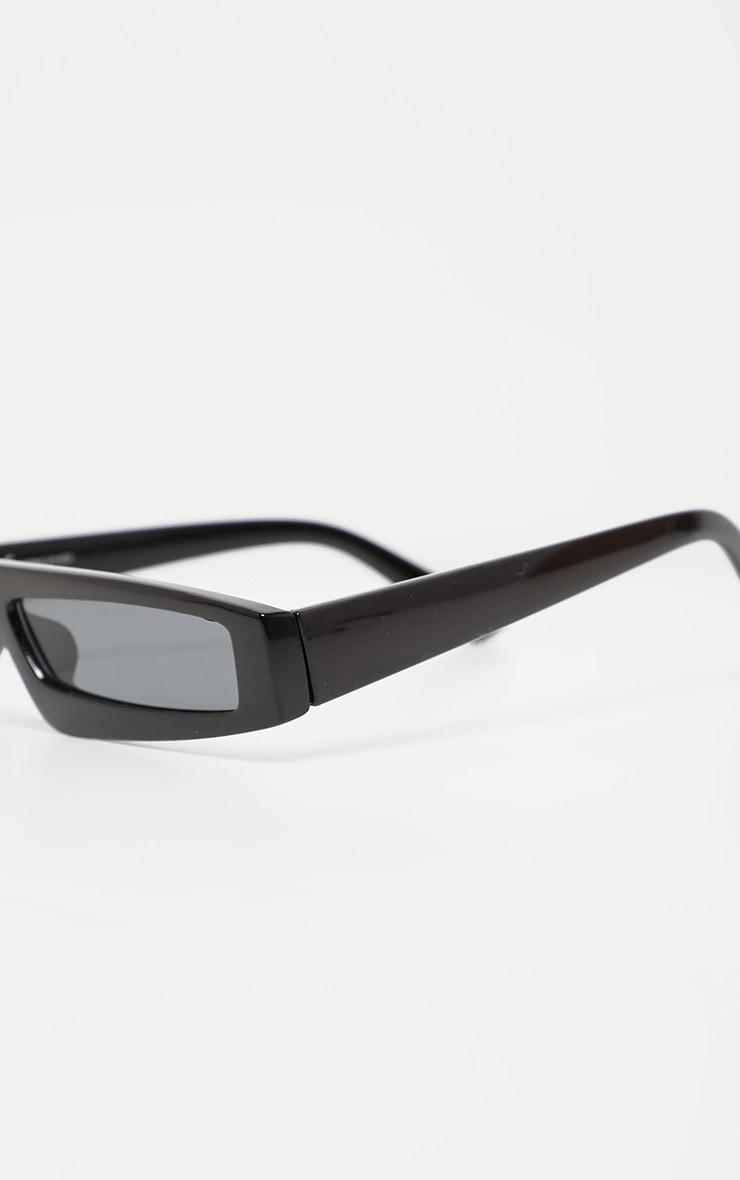Black Square Squashed Visor Sunglasses 3