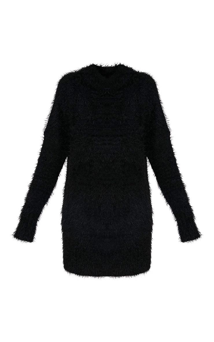 Fontaine Black Oversized Mohair Knit Jumper Dress 3