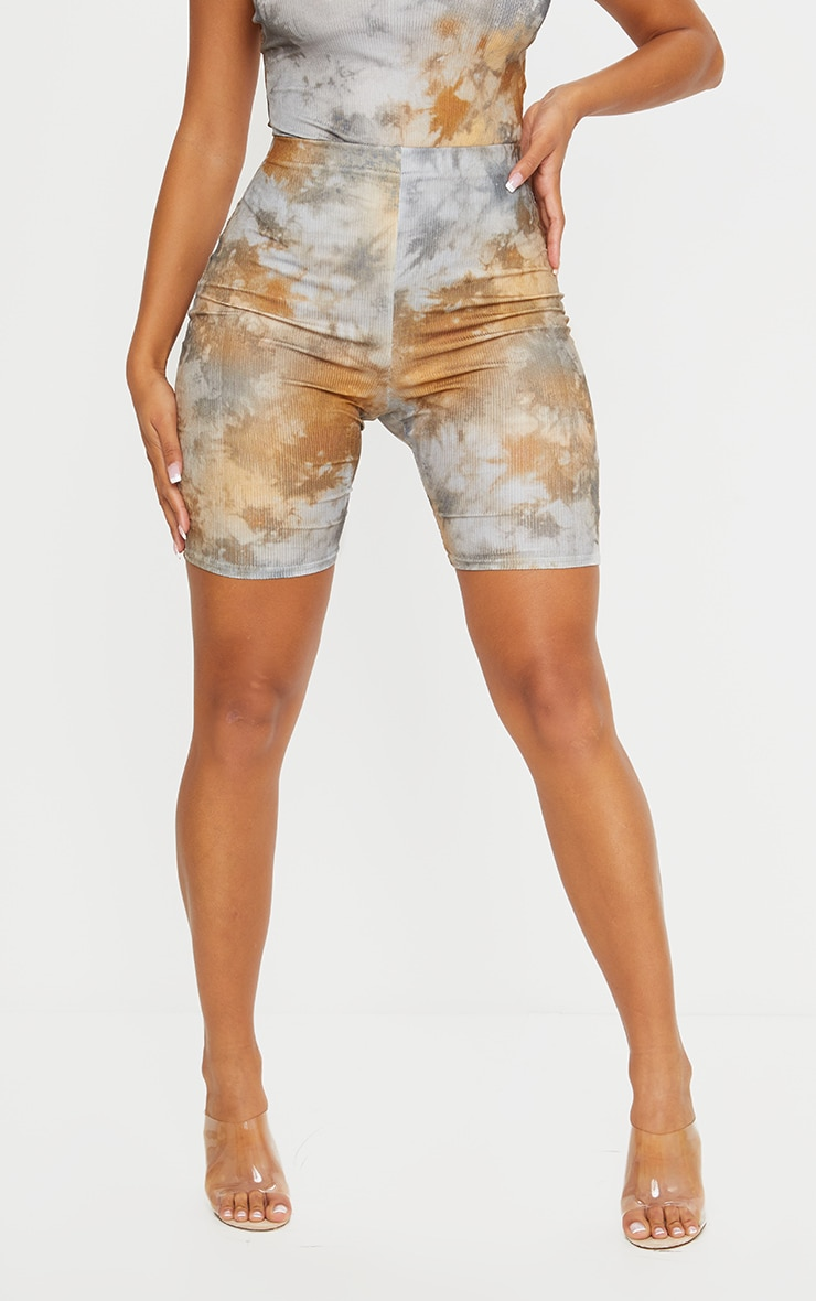 Shape Tan Tie Dye Rib Bike Shorts 2
