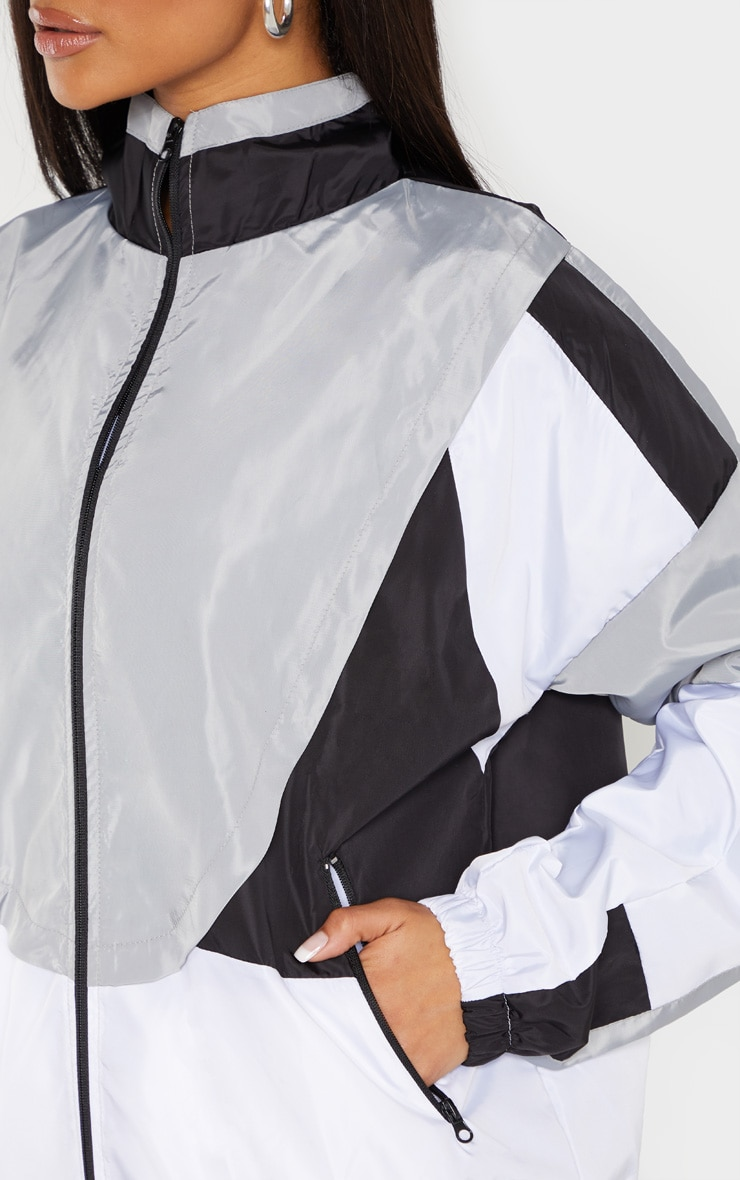 White Colourblock Tracksuit Windbreaker 6