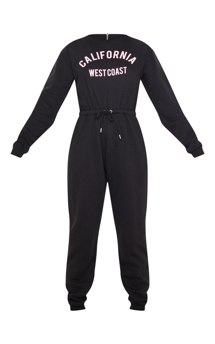 Black California Long Sleeve Jumpsuit 3