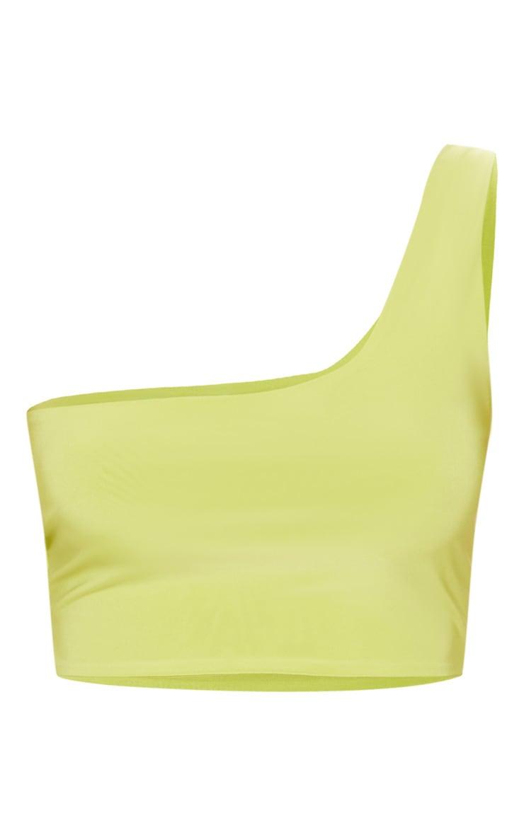 Petite Lime Asymmetric Crop Top 3