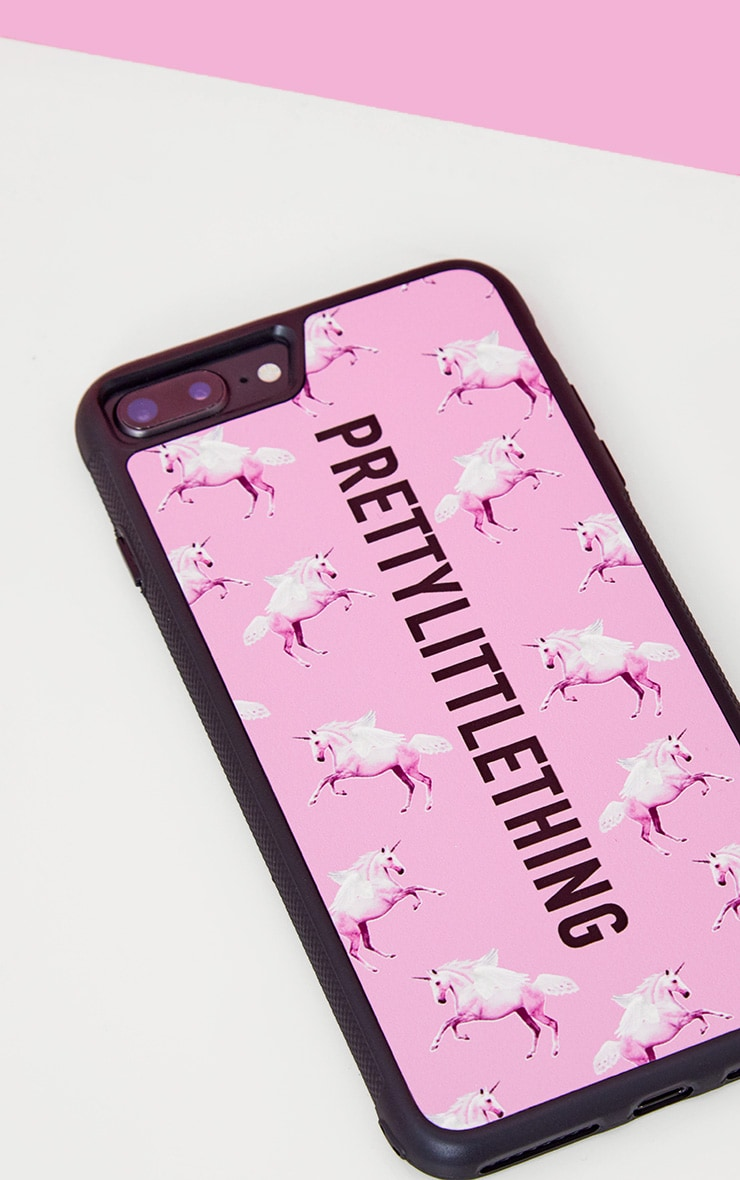 PRETTYLITTLETHING Unicorn Pink Phone Case 8 Plus 2