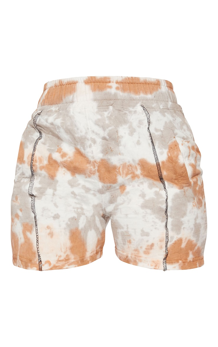 Shape Nude Tie Dye Contrast Stitch Sweat Shorts 6