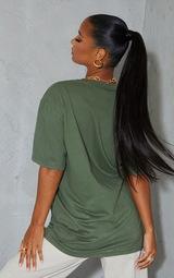 Khaki Aaliyah Printed T Shirt 2