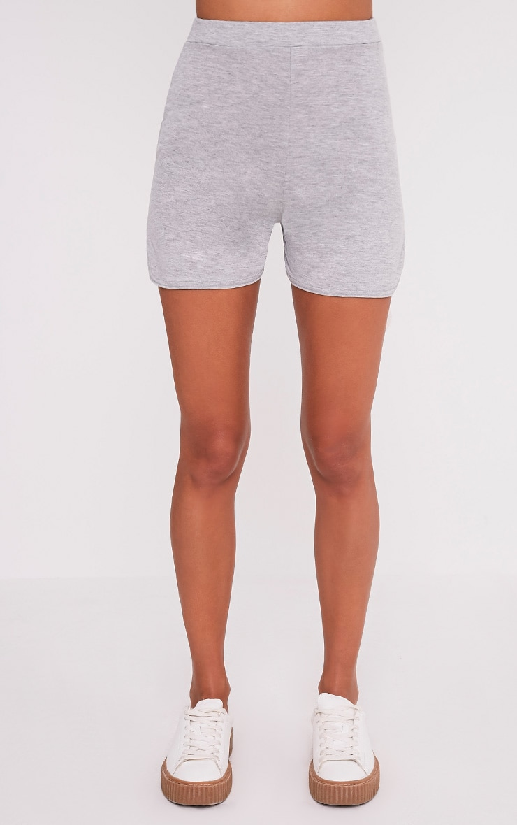 Basic Grey Jersey Runner Shorts 2