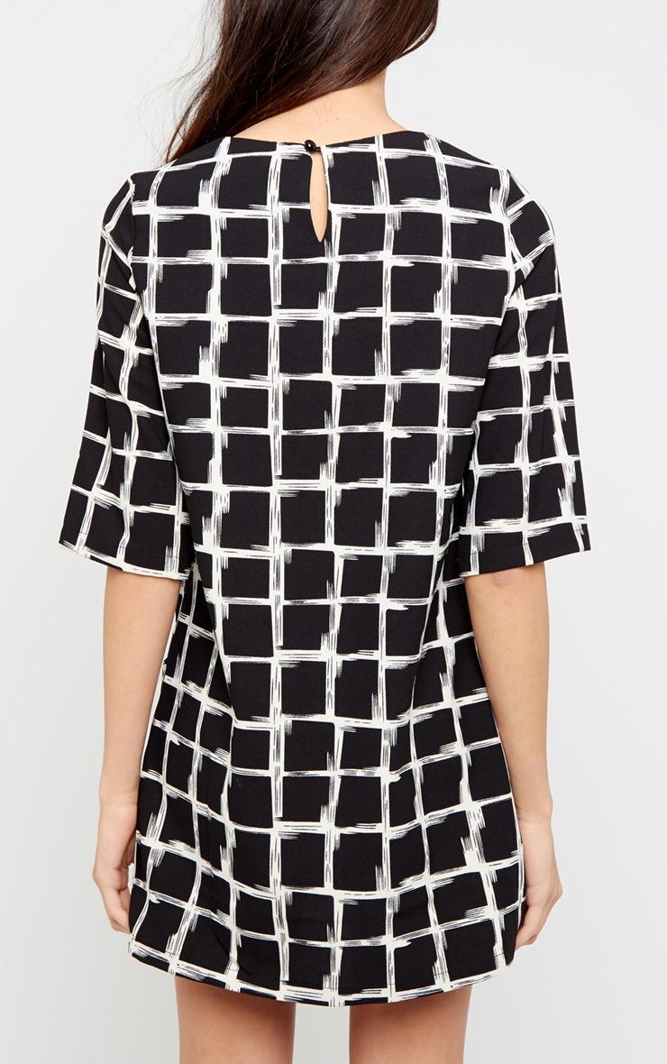 Agni Black Check Shift Dress 2