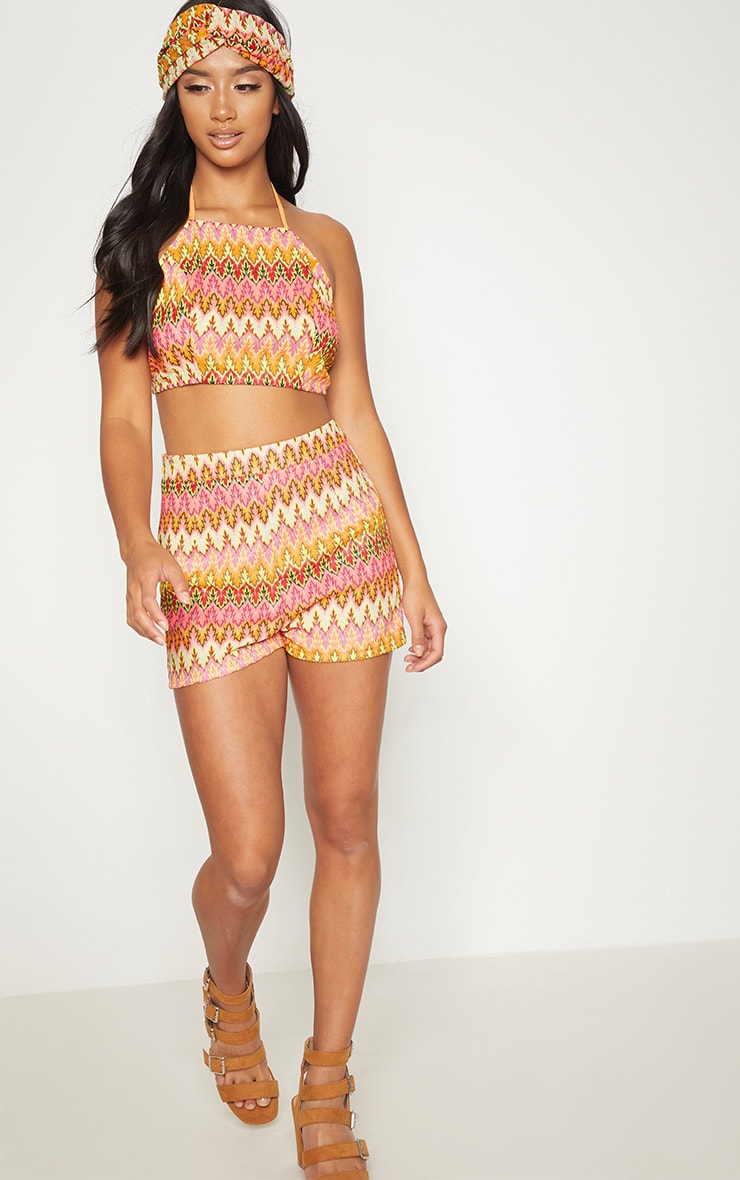 Petite Nude Chevron Shorts 5