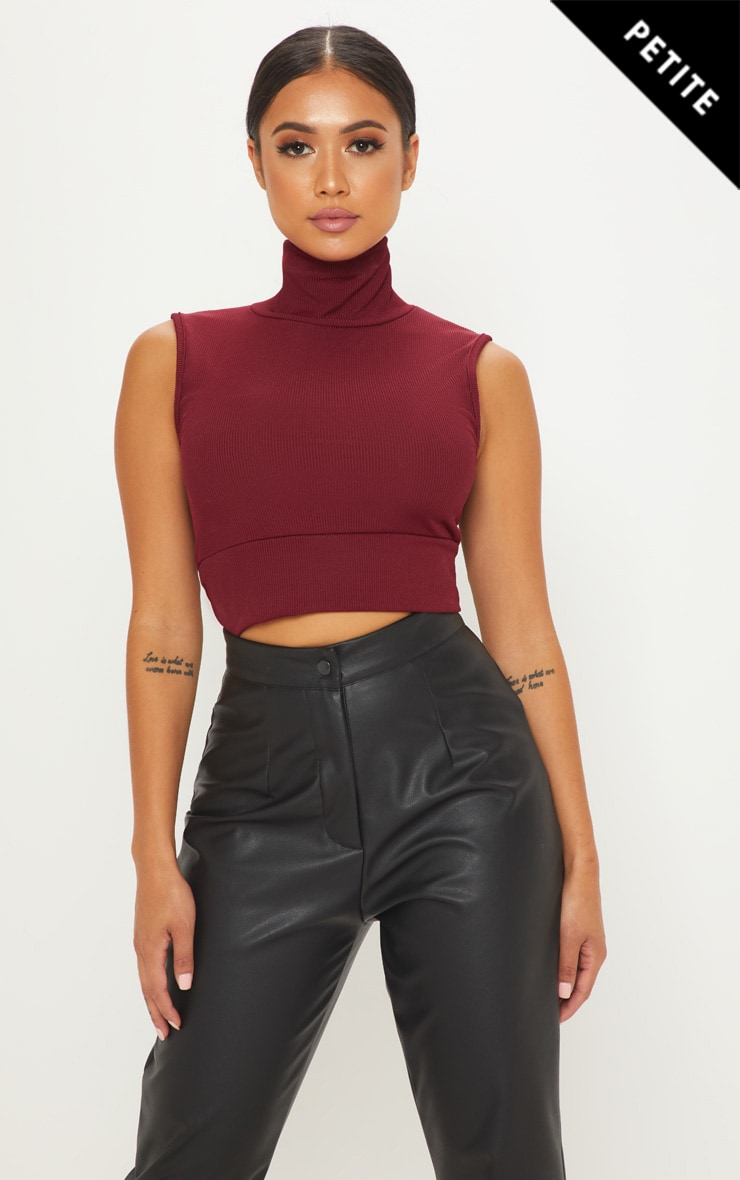 c8f630cc12533 petite-burgundy-roll-neck-sleeveless-ribbed-crop-top by
