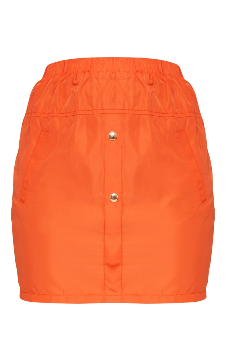 Orange Shell Suit Mini Skirt 3