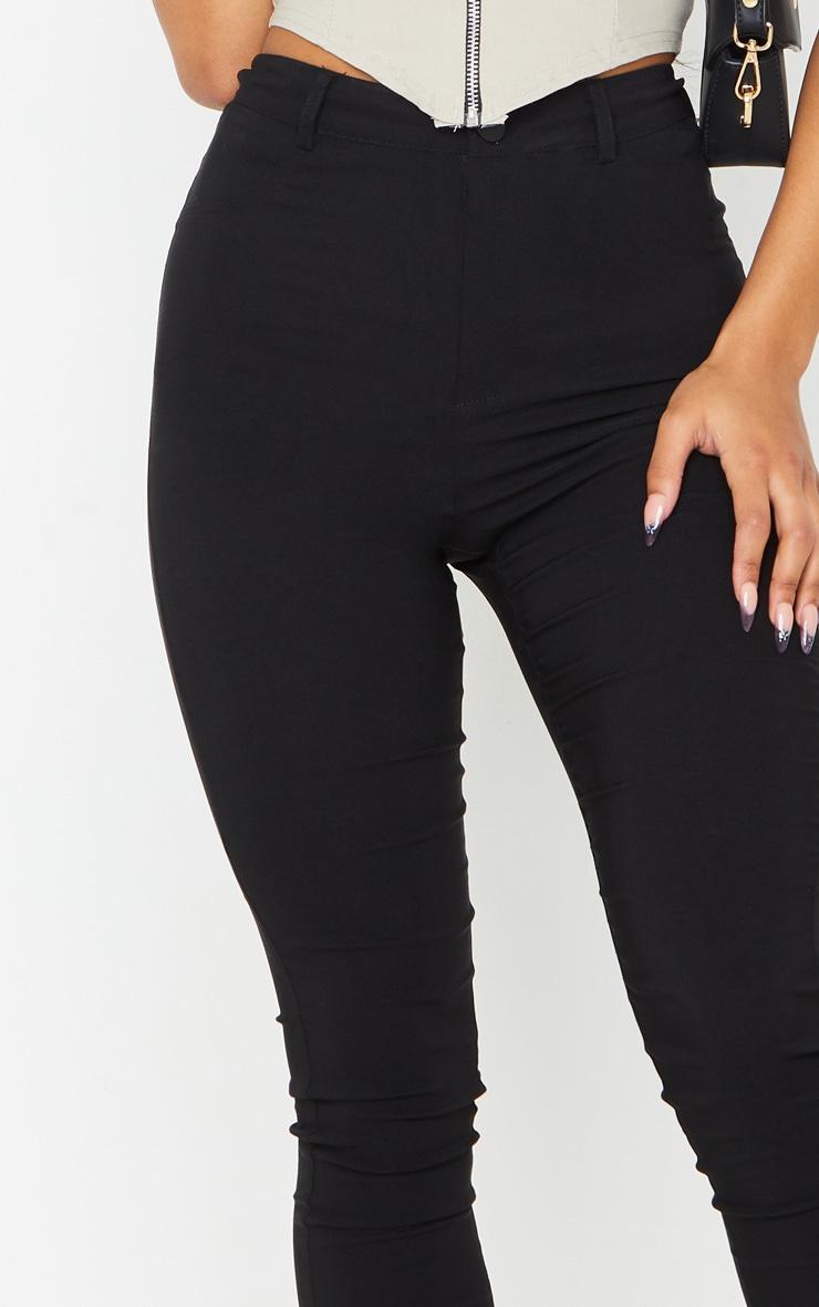 Black Popper High Waisted Stretch Trouser 4