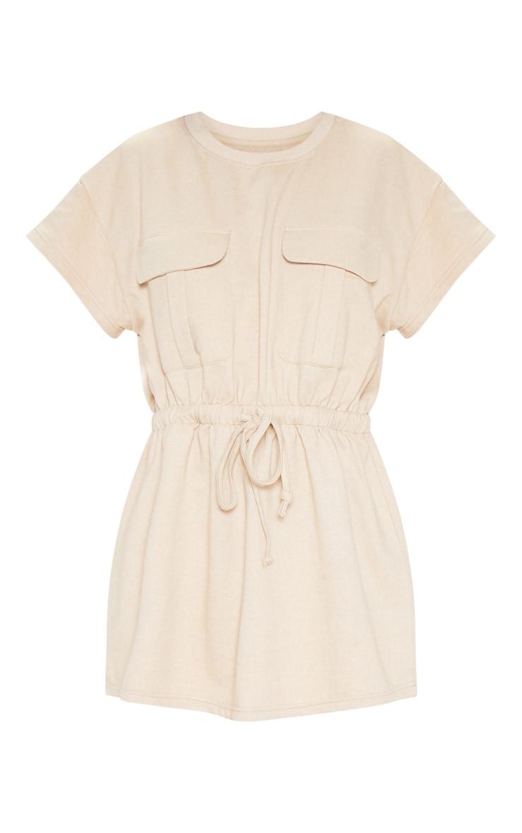 Sand Pocket Front Tie Waist Sweater Dress 3