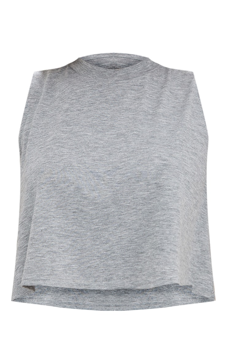 Grey Basic Jersey Swing Vest  3