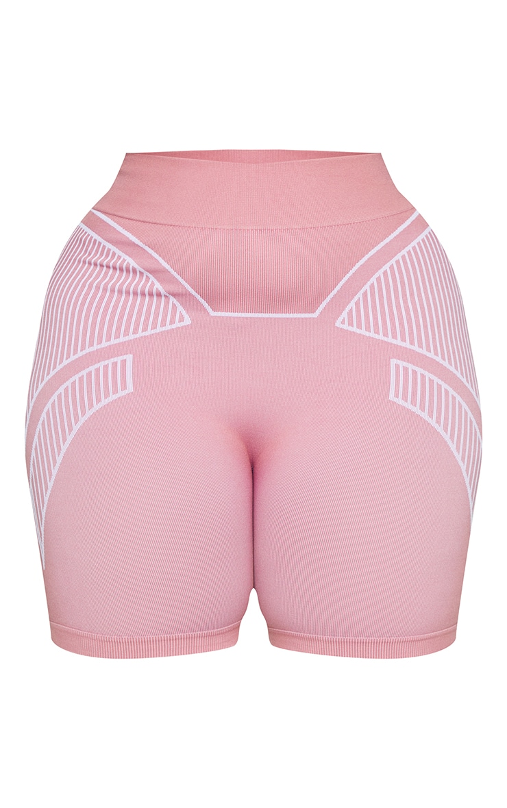 Plus Rose Seamless Detail Shorts 6