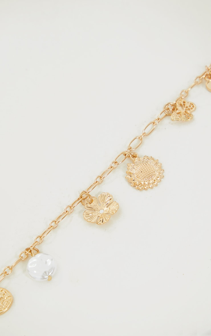 Gold Assorted Charm Necklace 4
