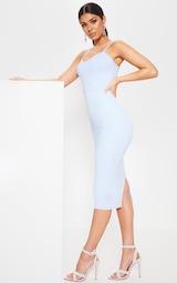 0e327cb63993 Baby Blue Strappy Corset Midi Dress image 3