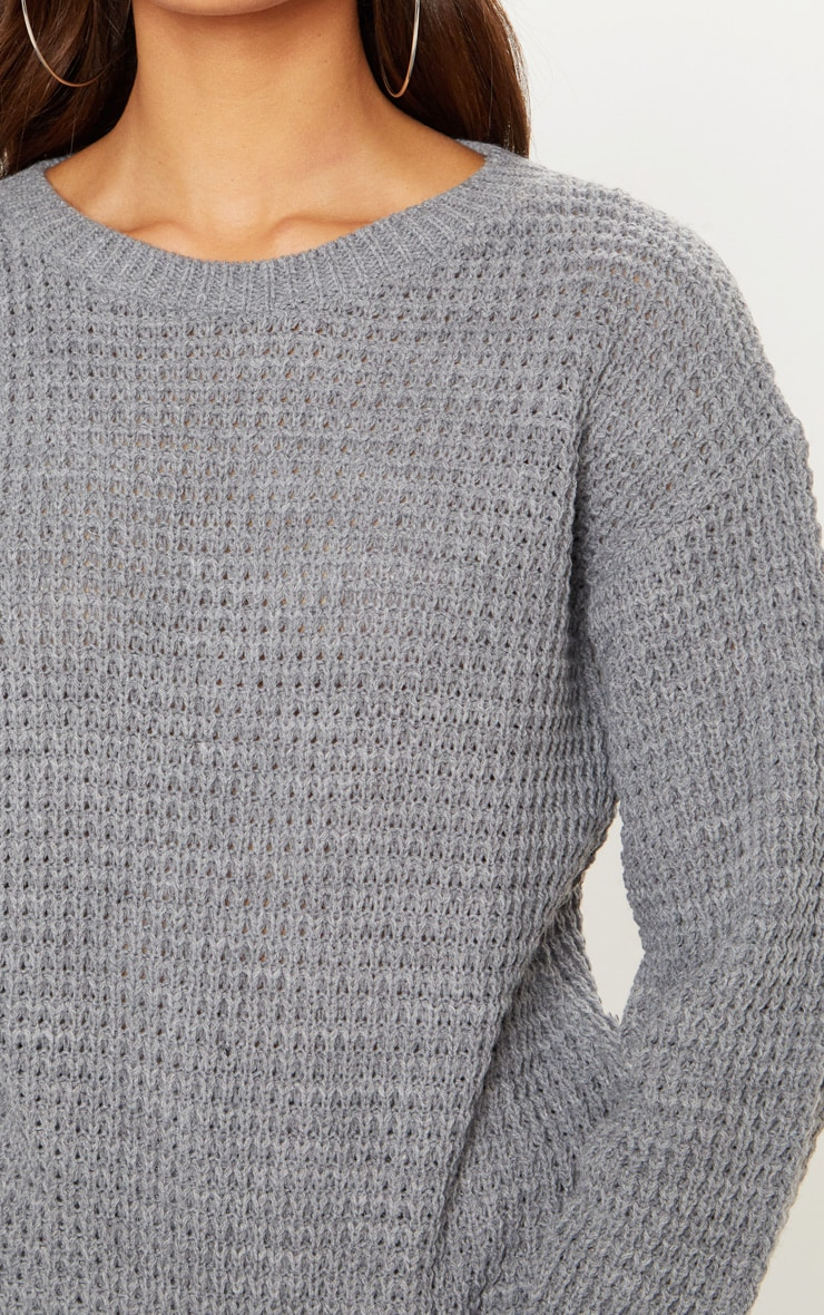 Grey Fisherman Knitted Sweater 4