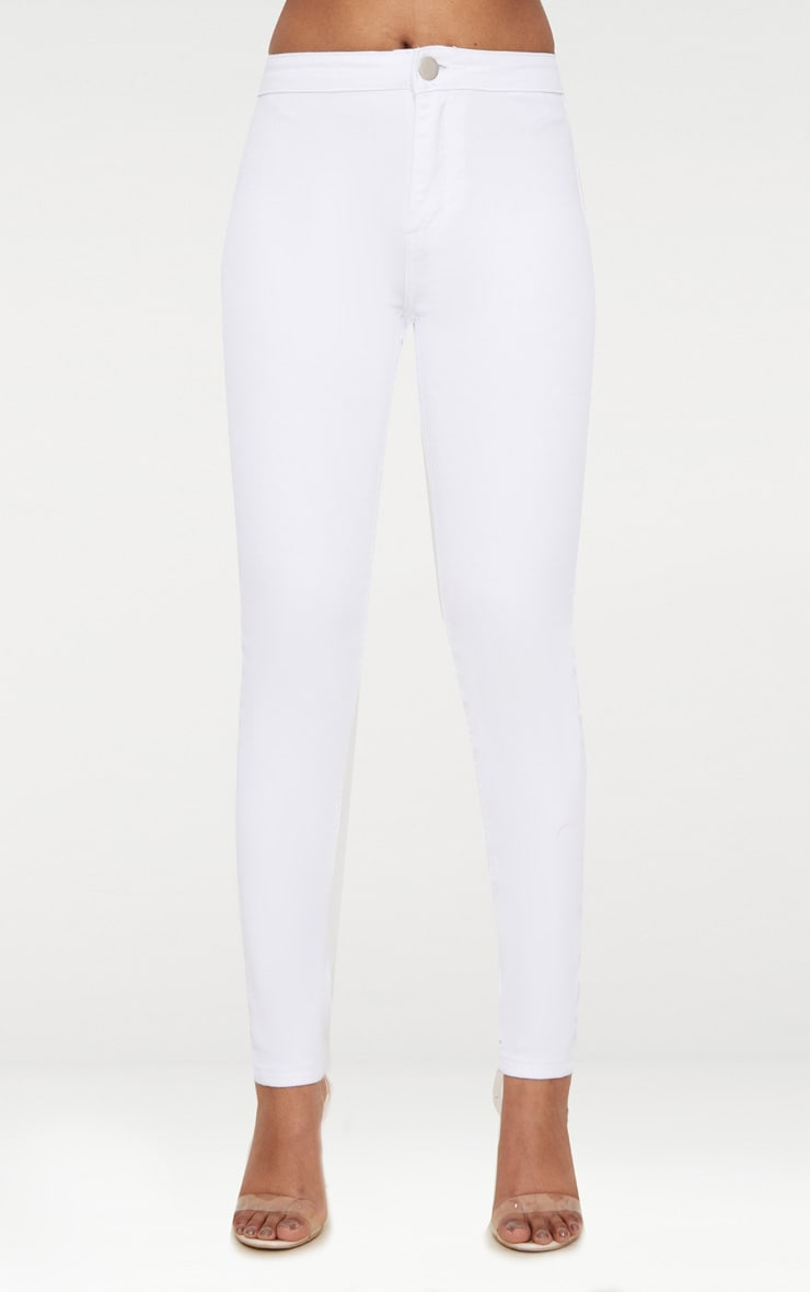 Petite White High Rise Skinny Jeans  6