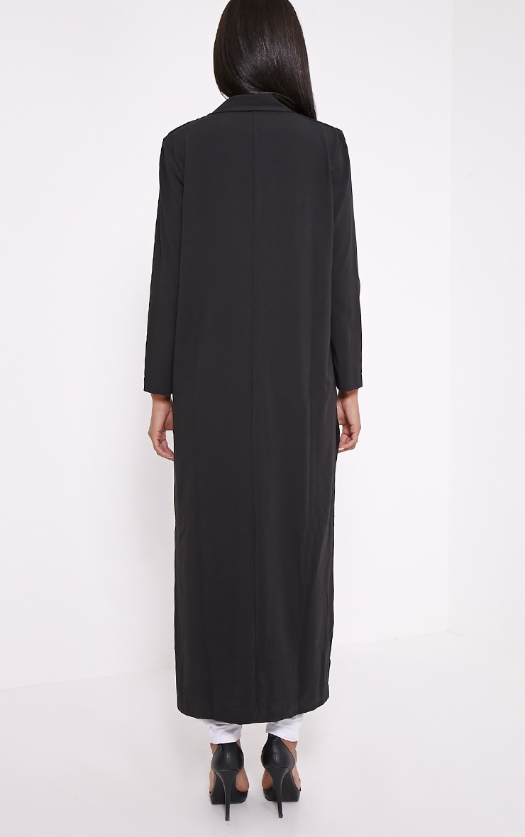 Lois Black Maxi Duster Coat  2