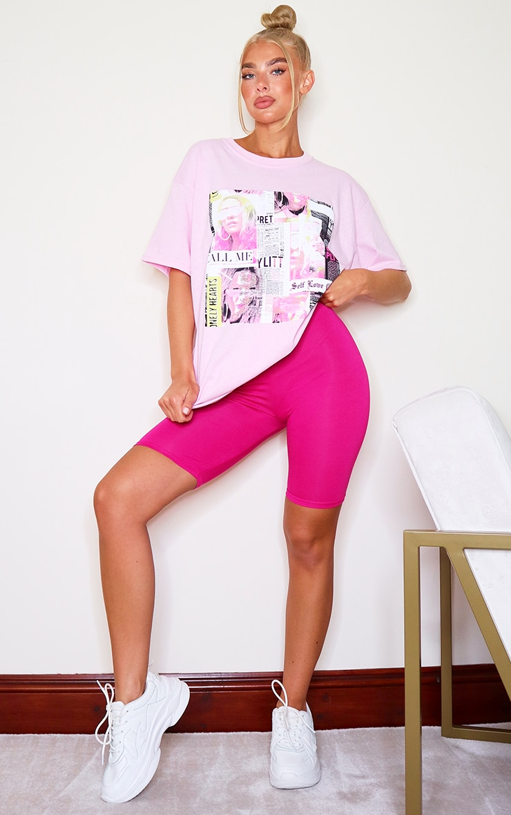 Hot Pink Basic Cycle Shorts 4