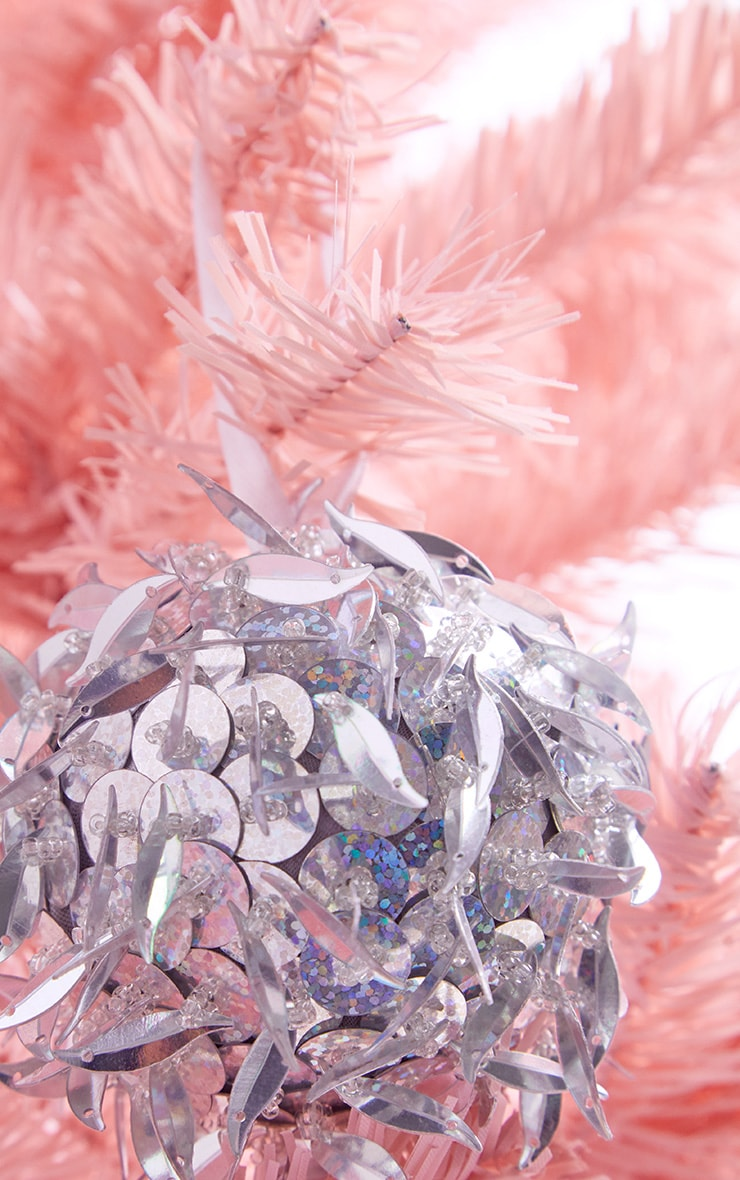 PAPERCHASE Silver Holog Sequin Bauble 2