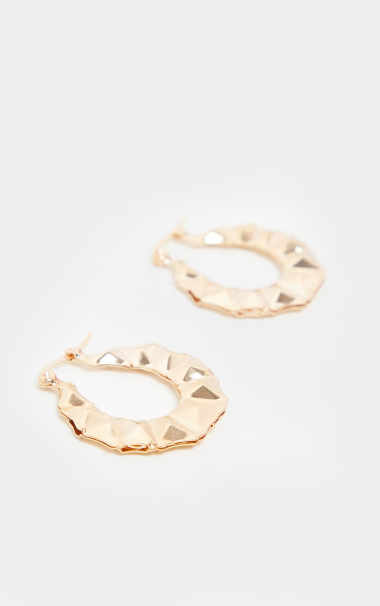 Gold Mini Faceted Hoops 3