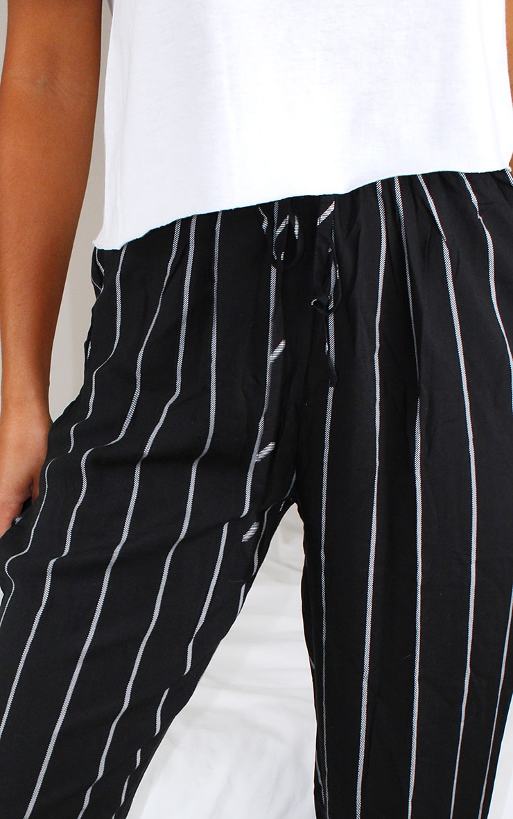 Petite Monochrome Stripe Casual Pants 4