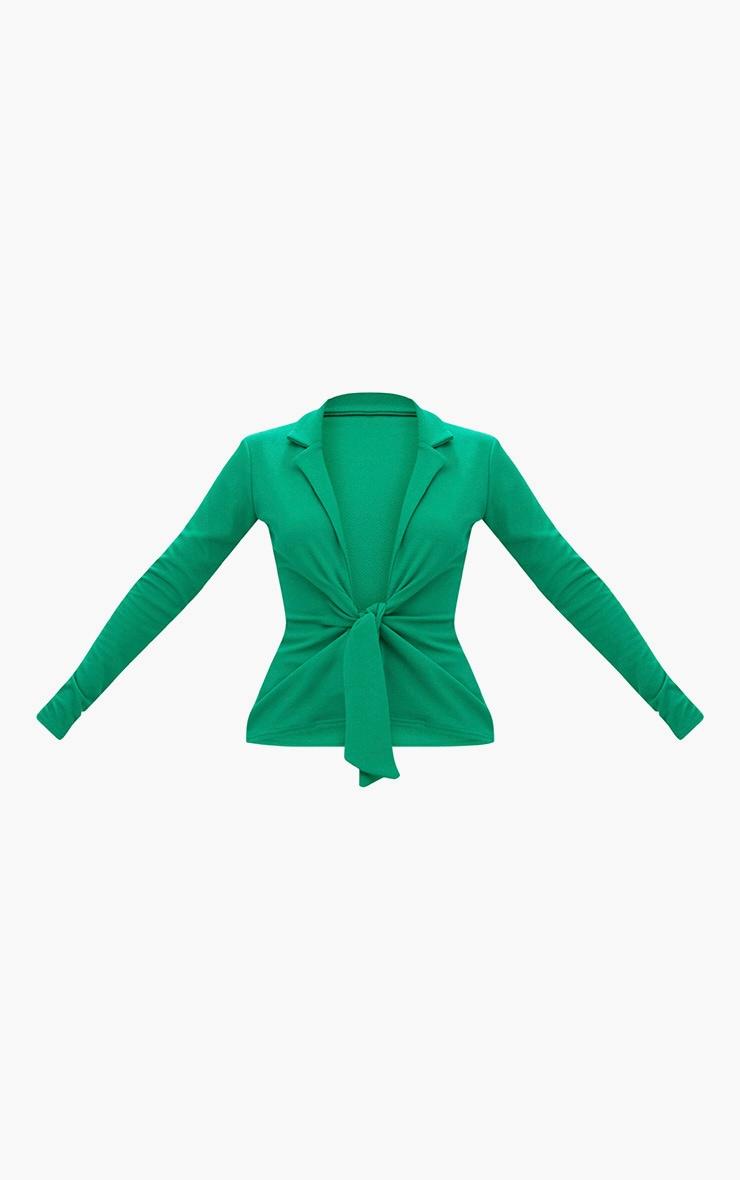 Emerald Green Tie Front Blazer 3