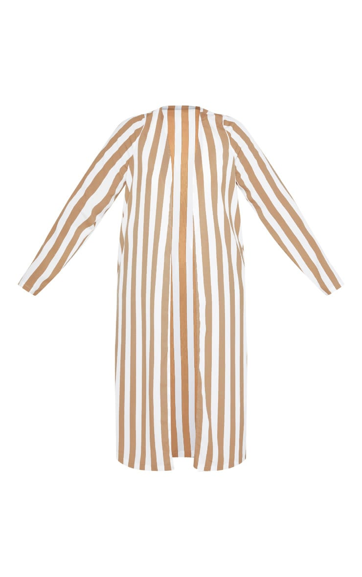 Plus Stone Striped Longline Duster Jacket 3