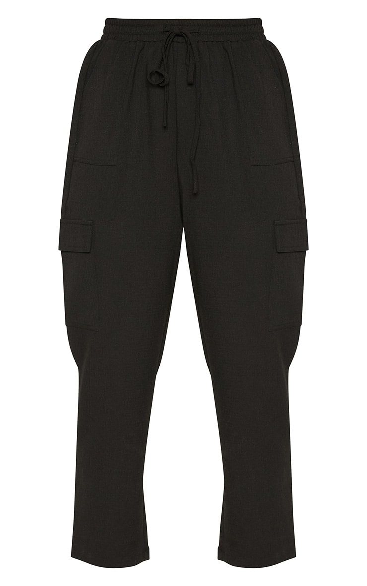 Black Diya Cargo Pocket Casual Trouser 3