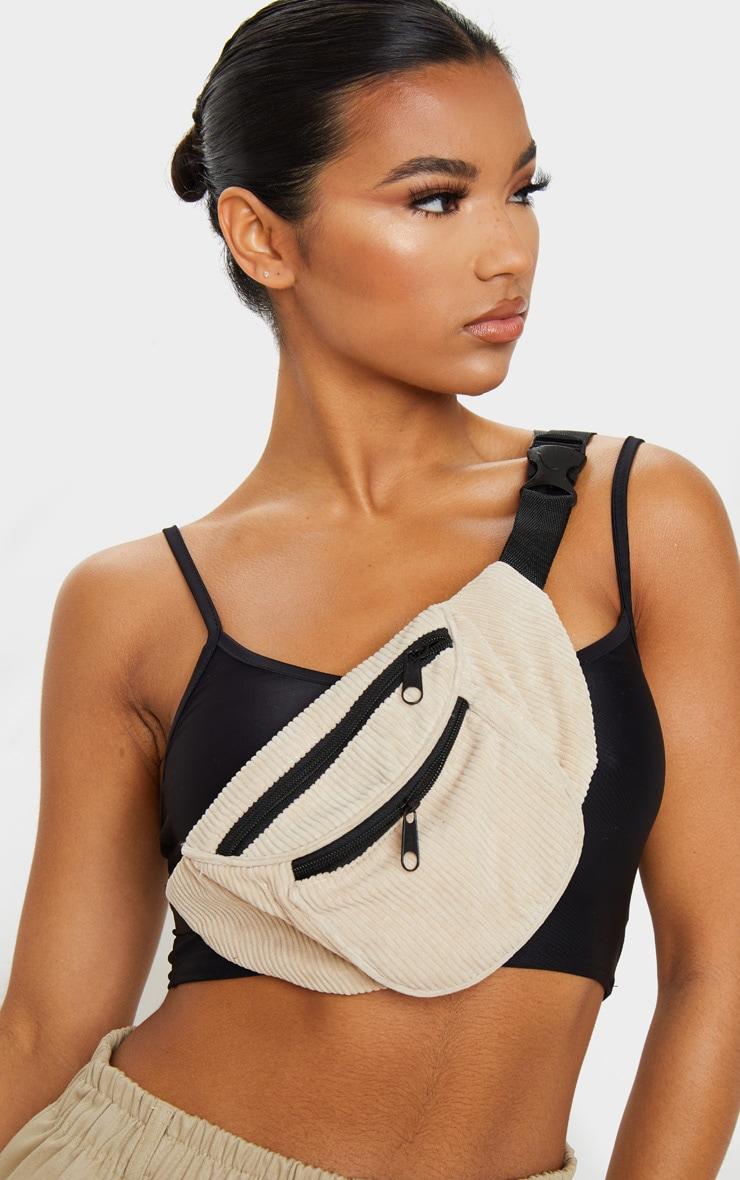 Camel Cord Pocket Front Bum Bag 1