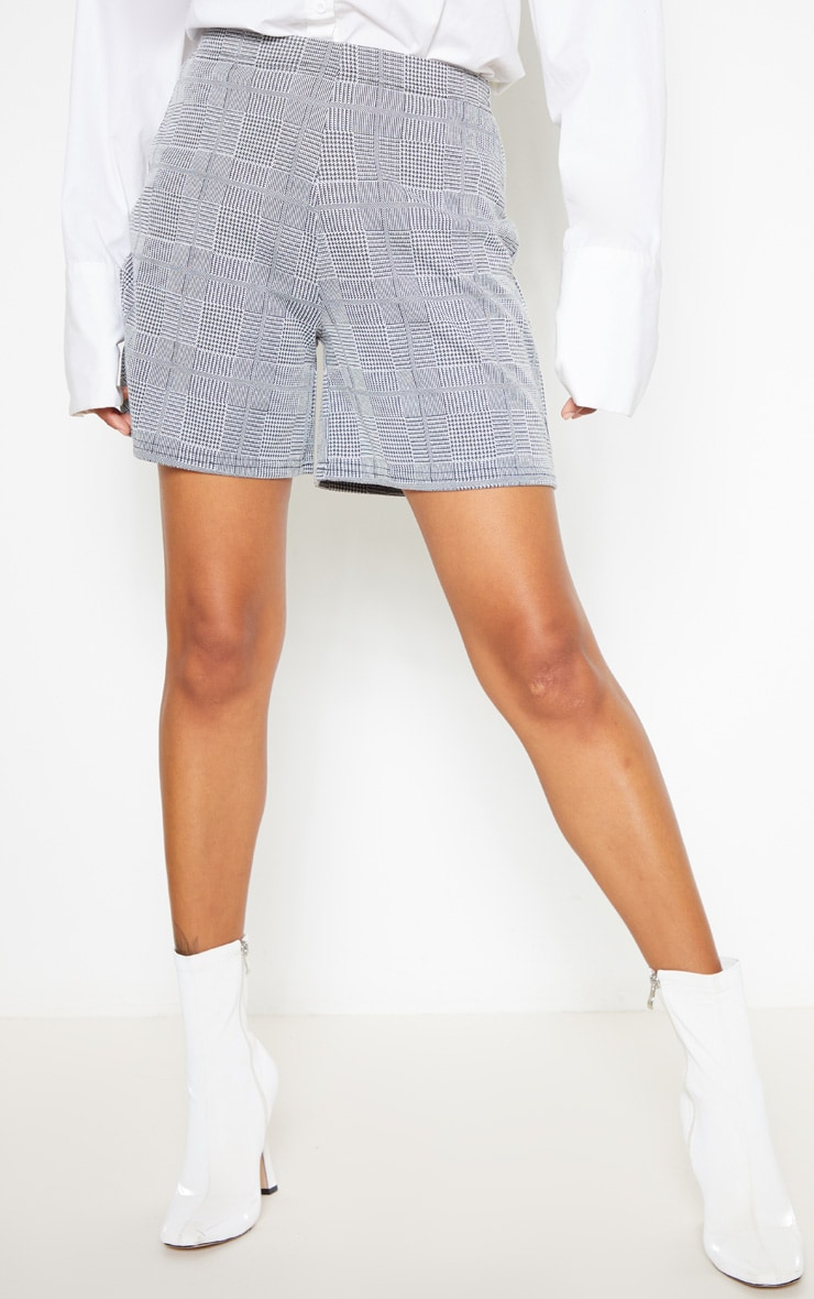 Grey Check Tailored Short 2