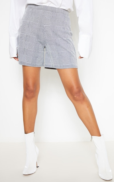 Grey Check Tailored Short