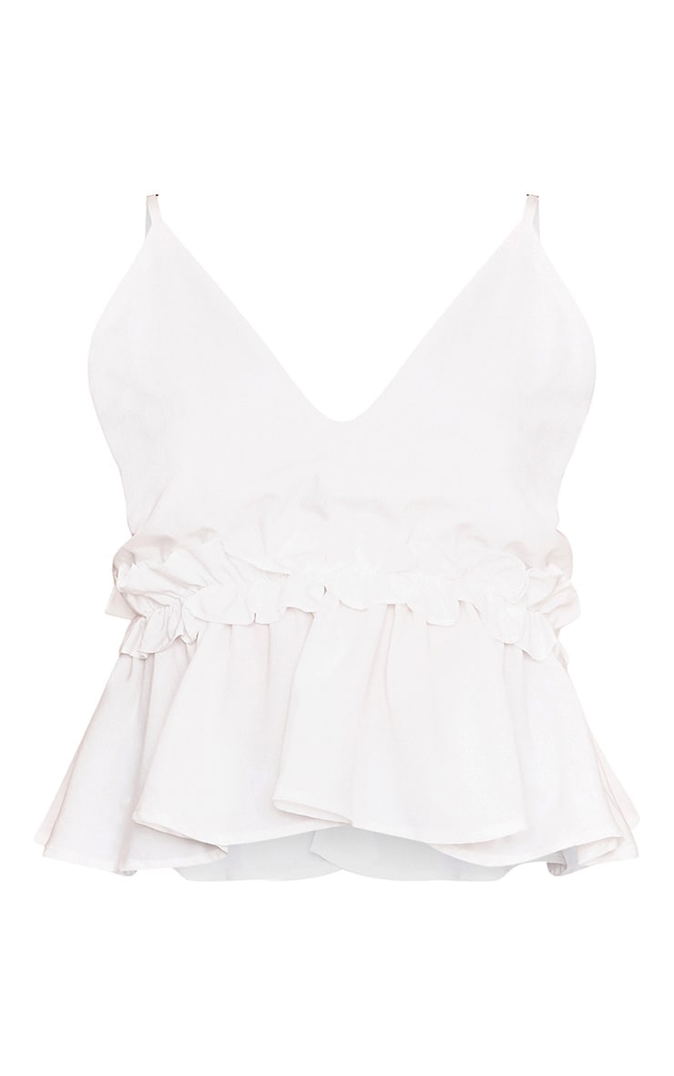 Airelle White Peplum Frill Cami Top 3