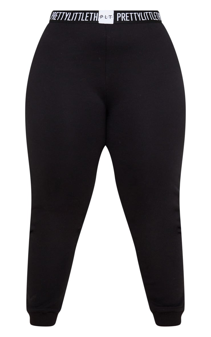 PRETTYLITTLETHING Plus Black Lounge Jogger 3