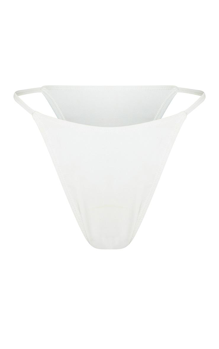 White Mix & Match Recycled Fabric Itsy Bitsy Bikini Bottoms 5