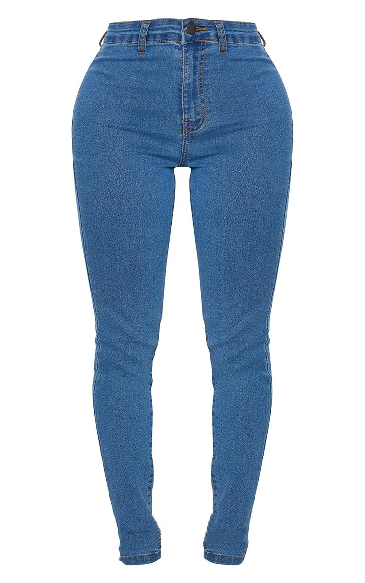 Shape Mid Wash Disco Skinny Jeans 5