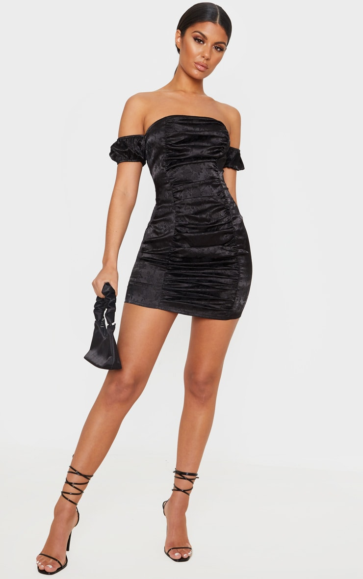 Black bodycon dress pretty little thing jean review with tights