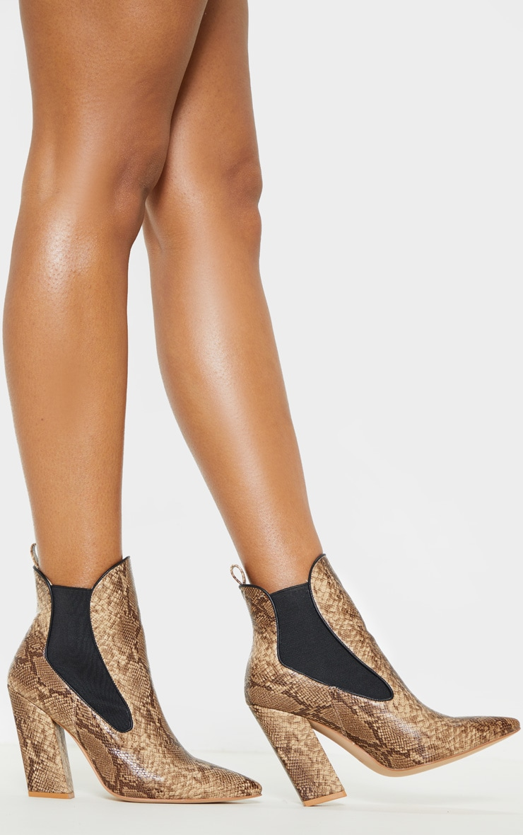 Snake Western Chelsea Ankle Boot 2