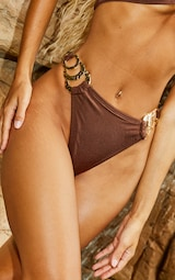 Chocolate Triple Ring Bikini Bottoms 4