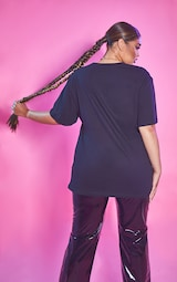Plus Black Beetlejuice Oversized T Shirt 2