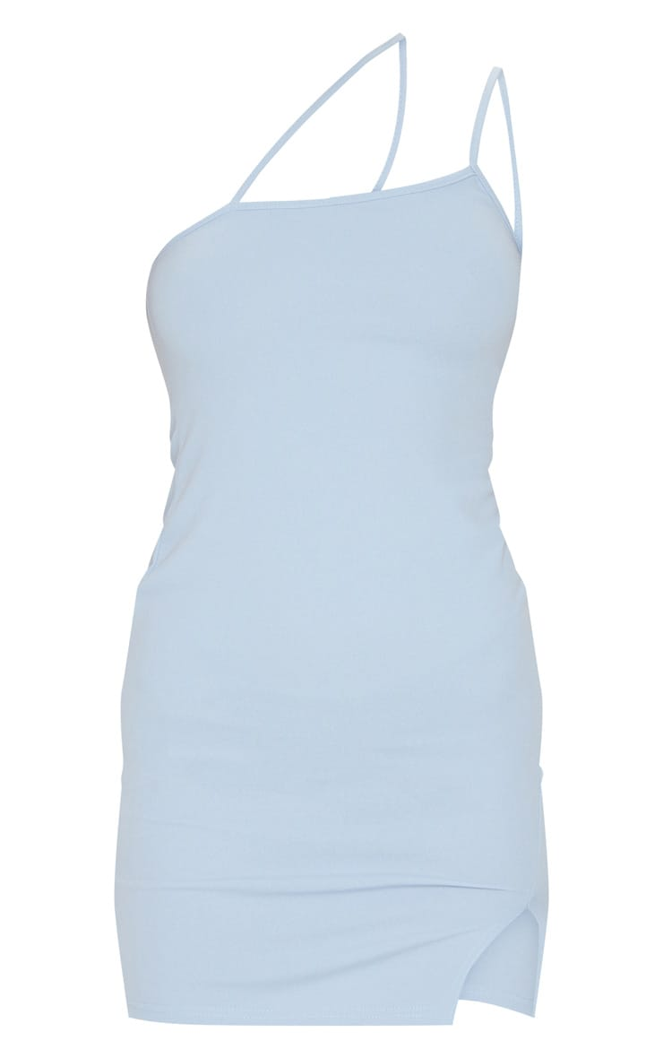 Baby Blue Split Hem Strappy Bodycon Dress 5