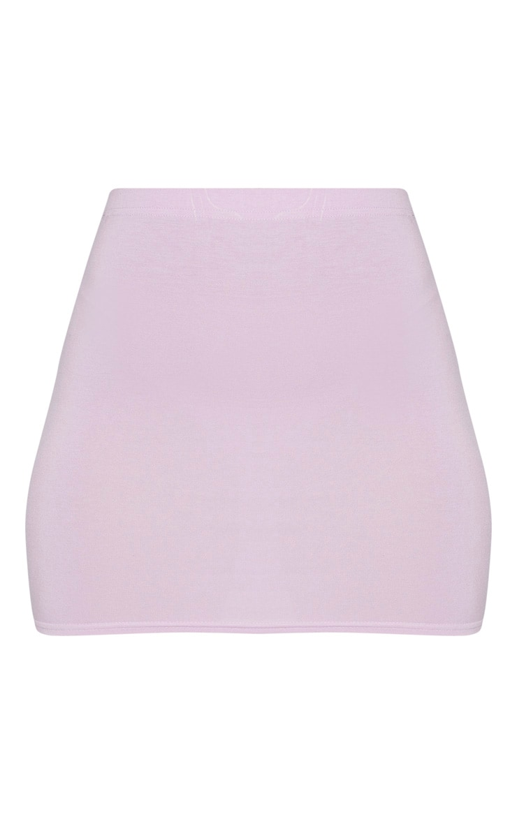 Basic Lilac Jersey Mini Skirt 3