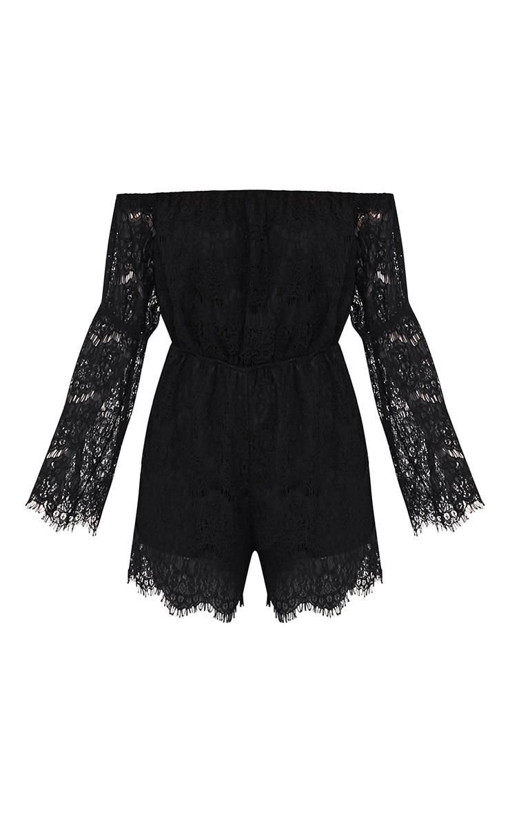 Juliah Black Lace Playsuit 3