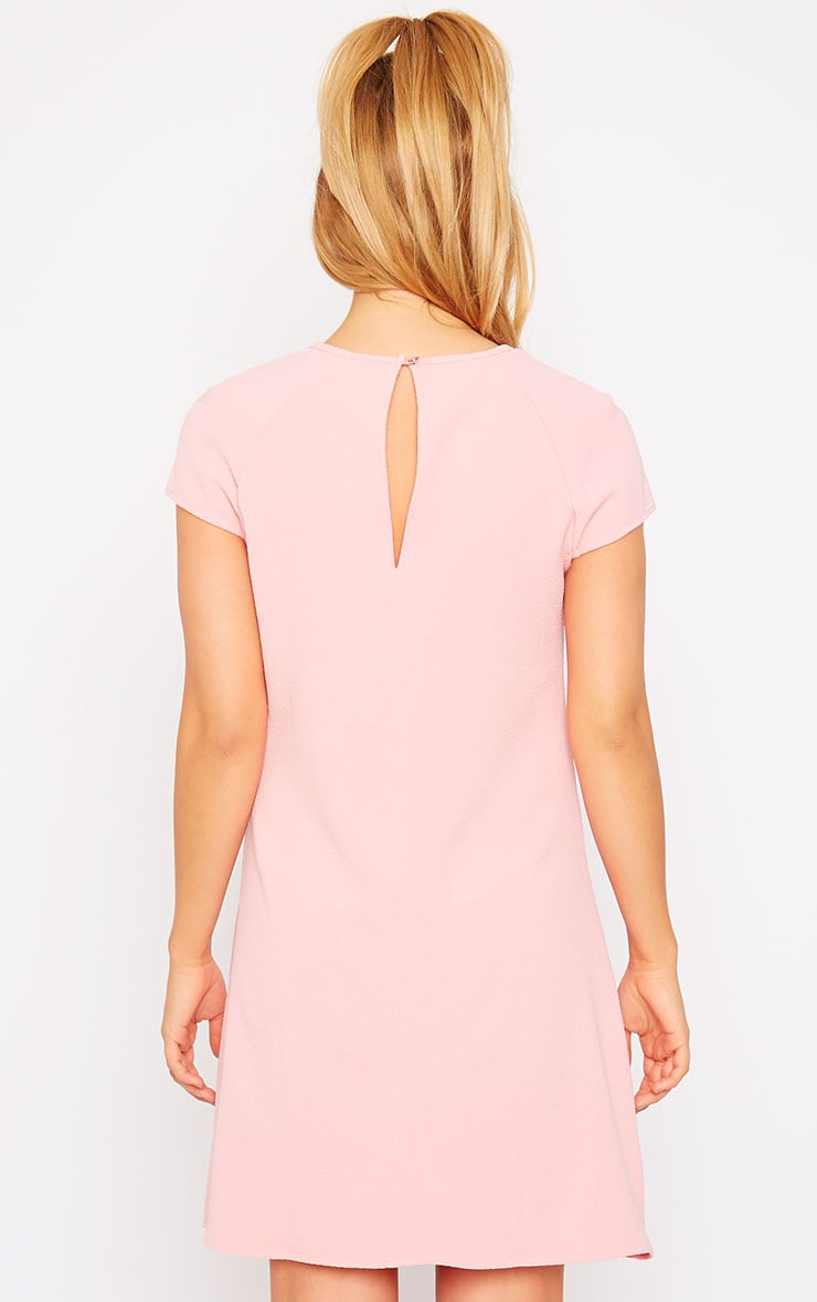Sabra Pink Waffle Loose Fit Shift Dress 2